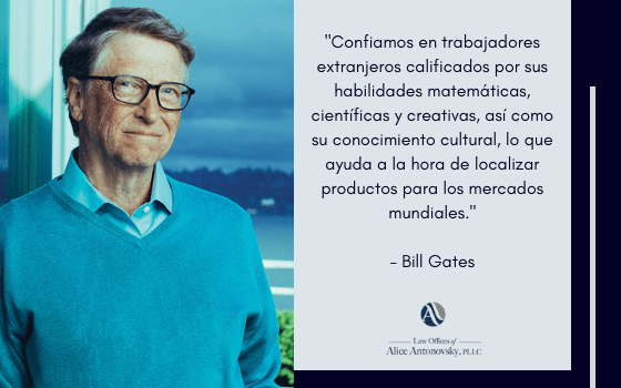 bill gates on immigration