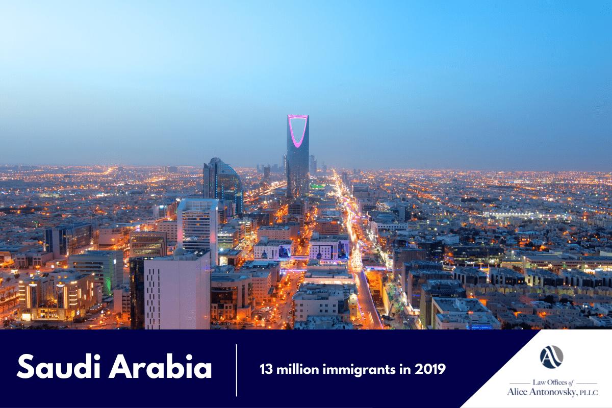 Saudi Arabia immigration rate