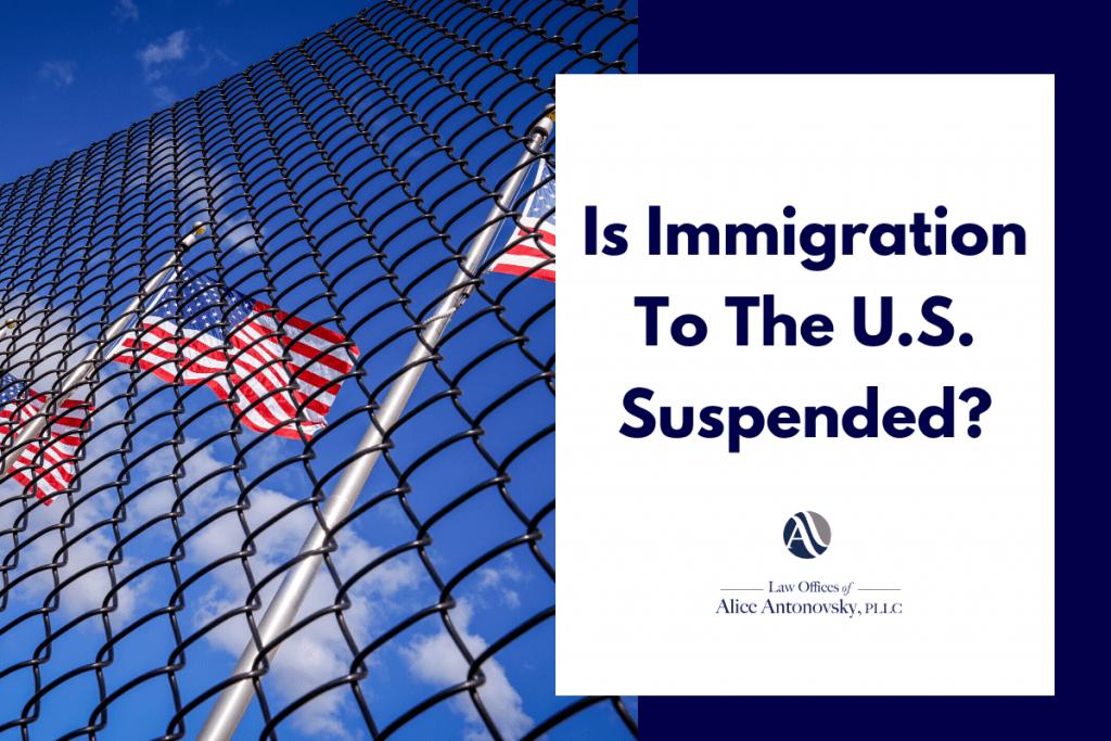 US immigration suspension