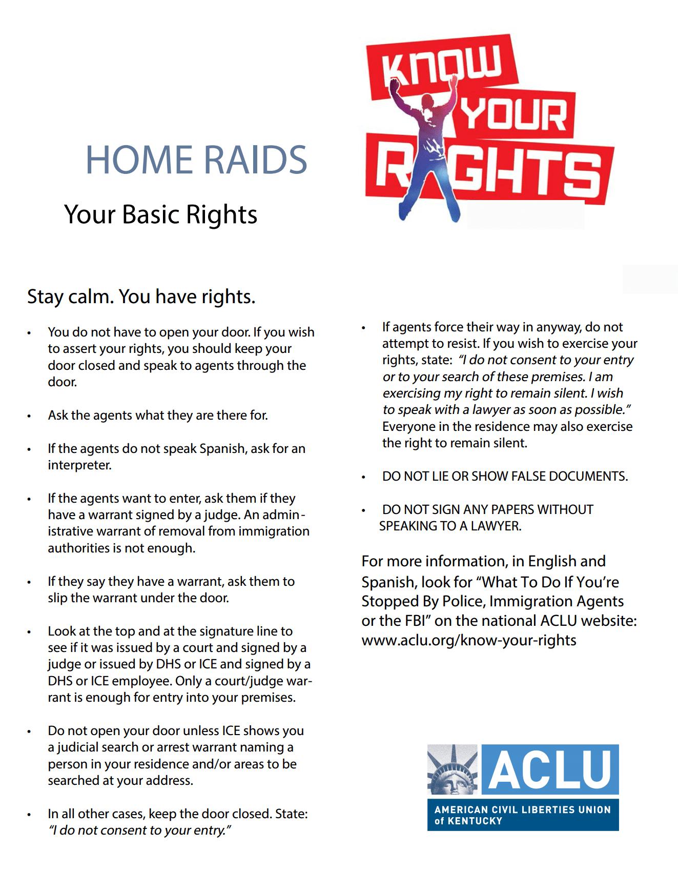 Home raids
