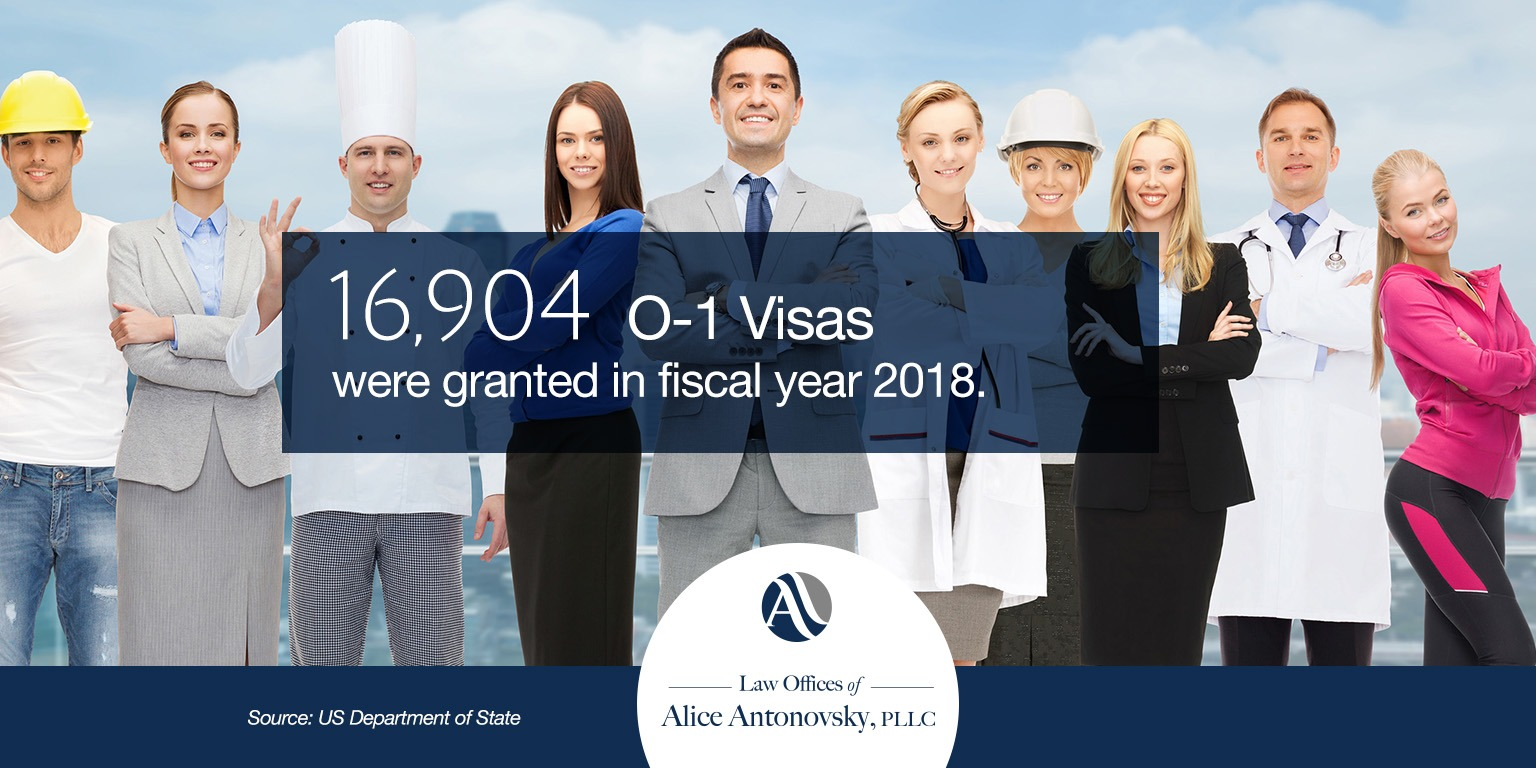 o-1 visas granted in 2018